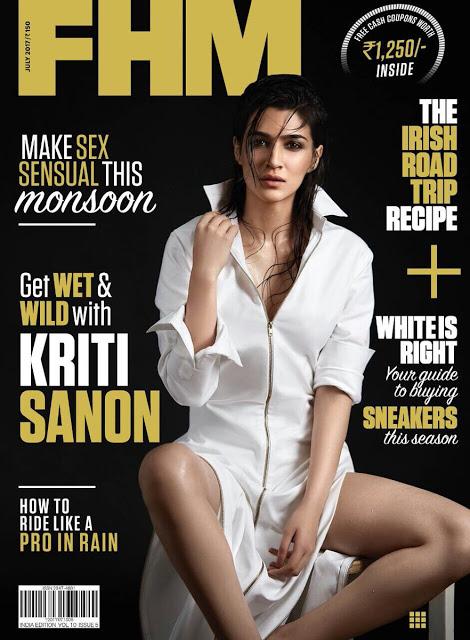 Kriti sanon FHM India Magazine July Issue 2017 Photoshoot