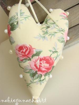 Różane serduszko i woreczki