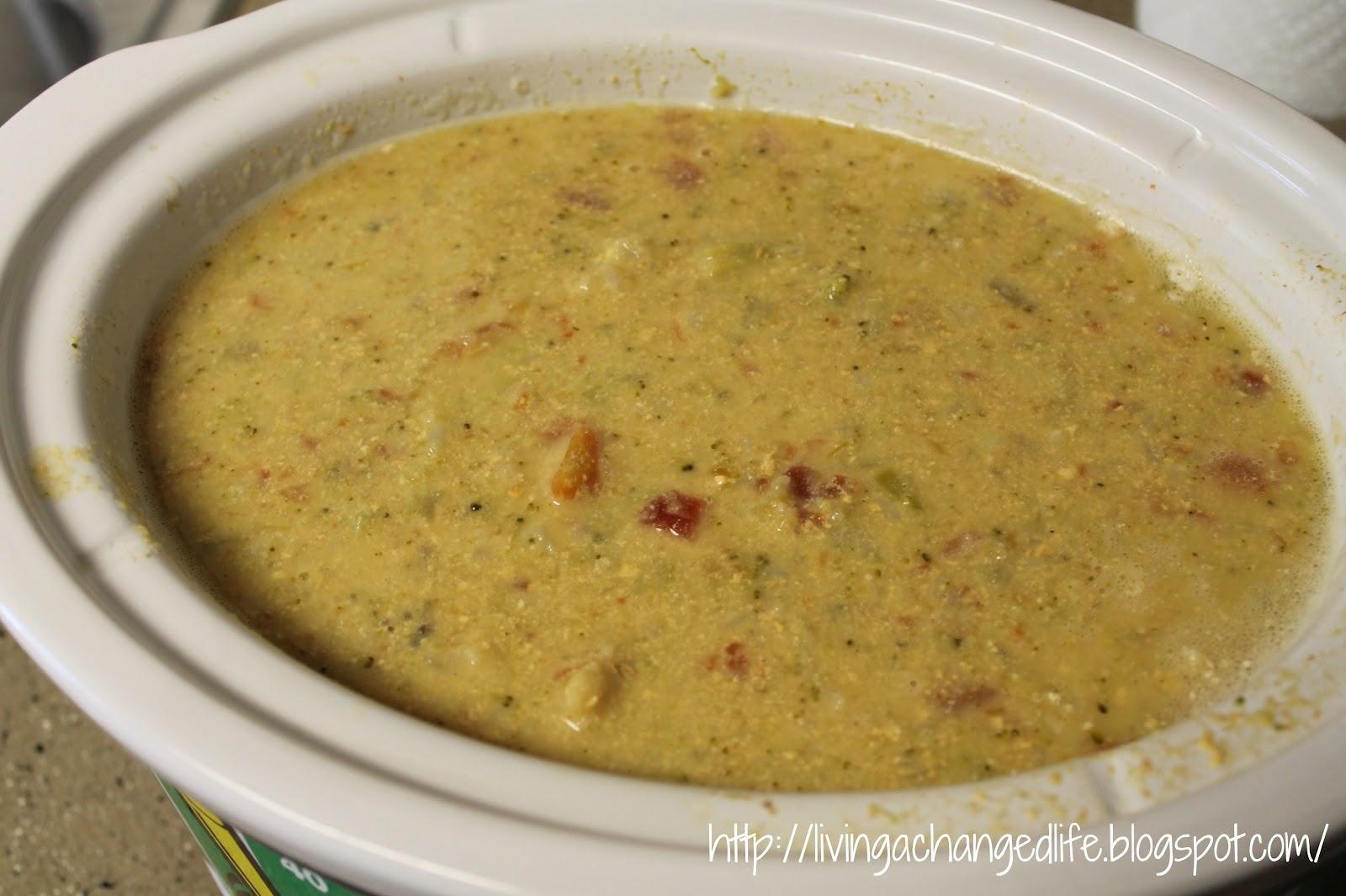 Chicken Broccoli Cauliflower Soup