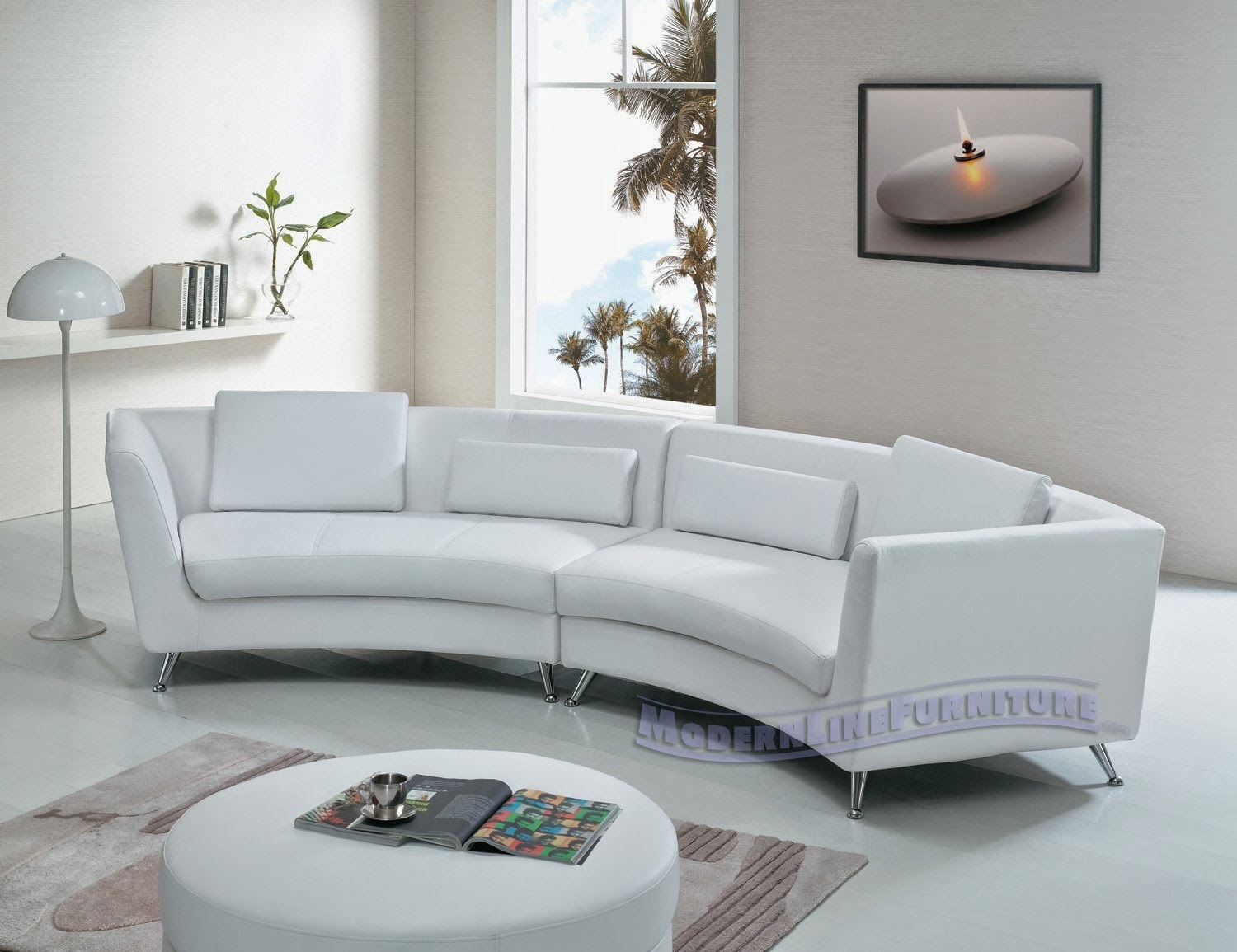 Small White Leather Sofa Living Room White Leather Sofa