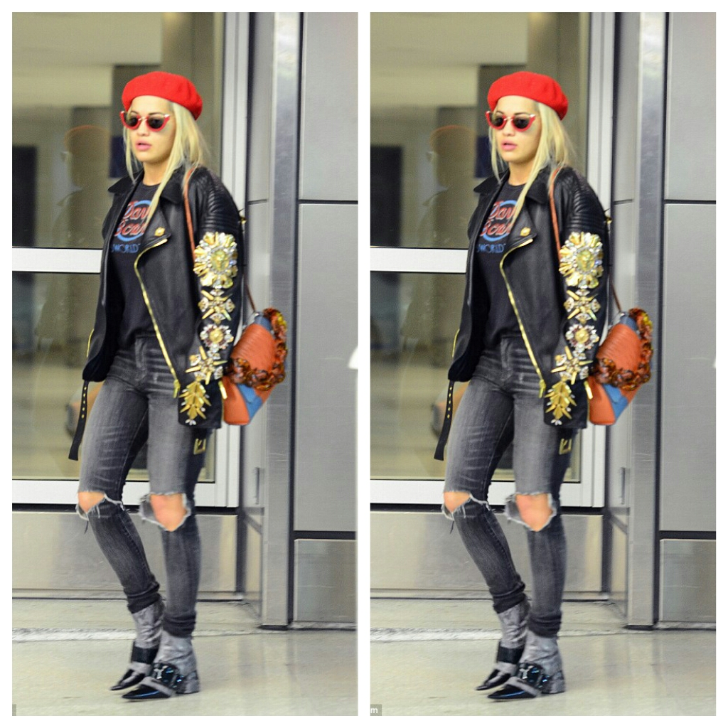 CHECHESMITHNATION   Beret Babe Rita Ora Sported In-Style! c13128f74d3