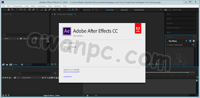 Download Adobe After Effect CC 2015.3 13.8.1 Full Patch Terbaru