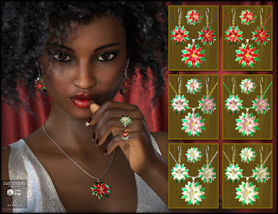 Christmas Jewelry for Genesis 3 Female