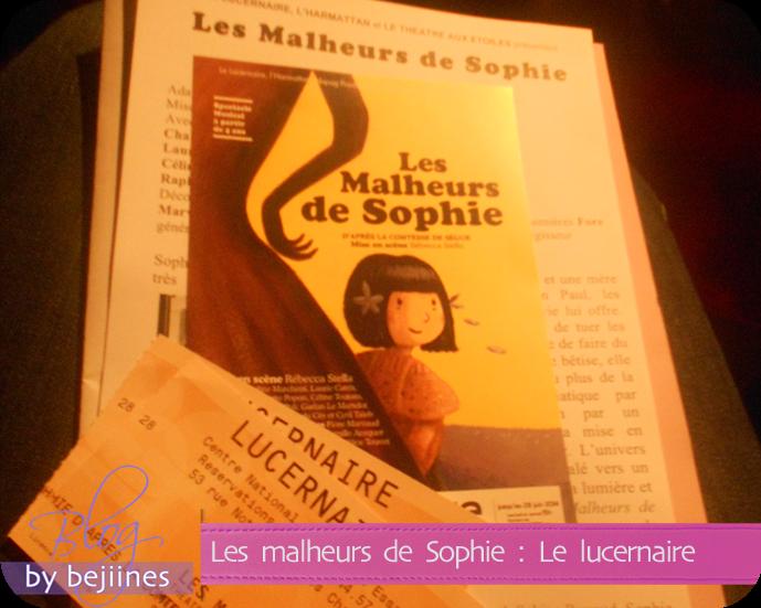 Sortie Théâtre - Les Malheurs de Sophie