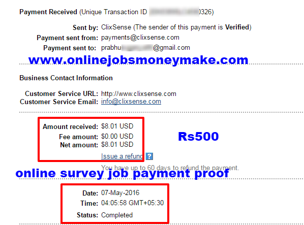 ONLINE JOBS PAYMENT PROOFS - ONLINE SURVEY JOB PAYMENT PROOF