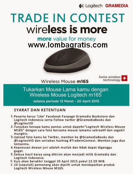 Kontes Foto Berhadiah 10 Logitech Wireless Mouse M165