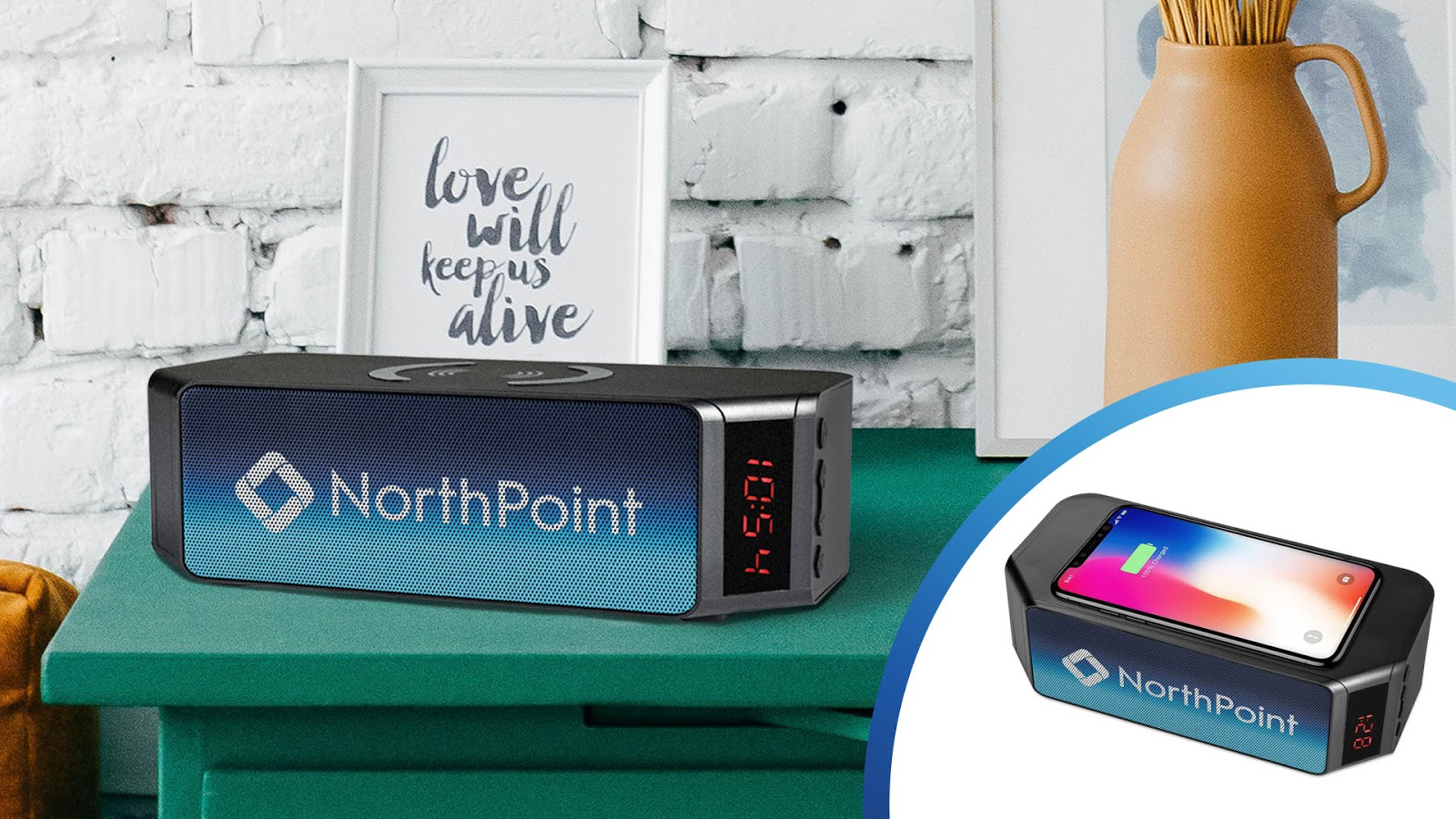 NorthPoint Bluetooth Speaker With Wireless Charging Powerbank