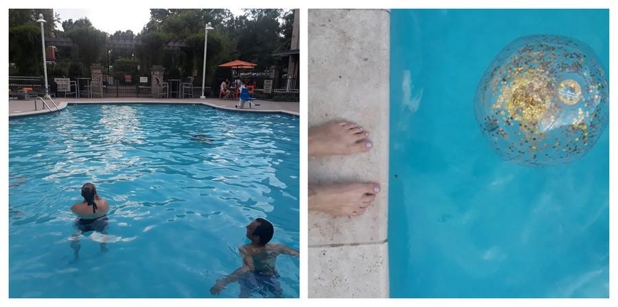 soirée piscine BBQ