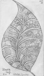 leaf sketch doodle designs luann kessi easy leaves mandala draw simple cool pattern zentangle sketchbook coloring mandalas inside idea zendoodle