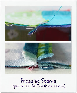 How To Press Seams - Open or To The Side by www.madebyChrissieD.com