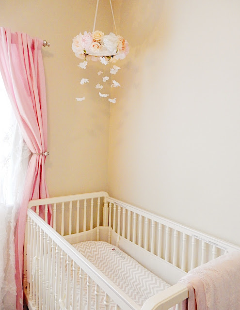 baby girl nursery crib