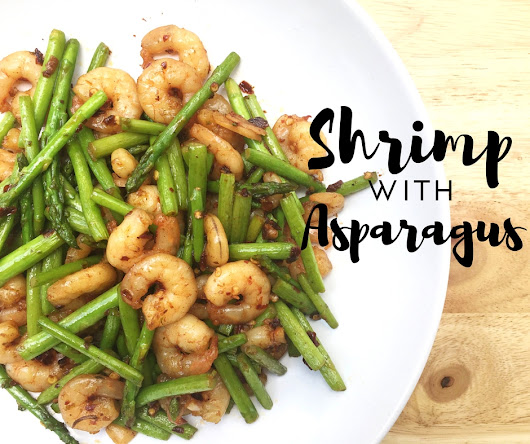Shrimp with Asparagus (with just the right hints of spicy)