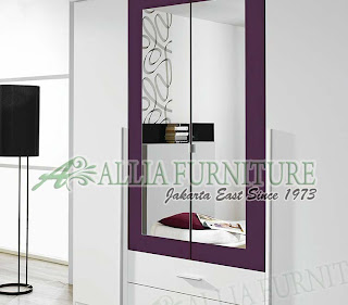 Lemari modern minimalis unit cabinet Vns - Allia Furniture