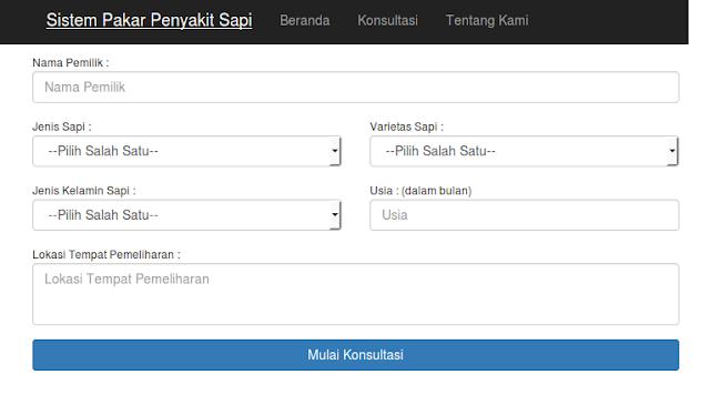 Kumpulan Full Source Code Aplikasi System Pakar berbasis Web PHP MYSQL