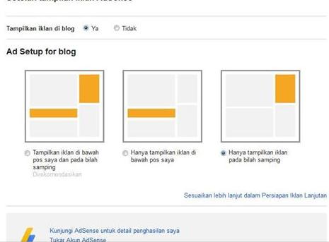 Trik Menampilkan Iklan Adsense Hosted di Blog
