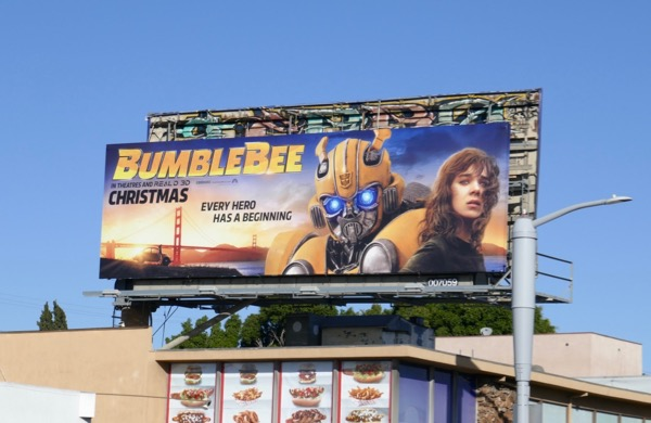 Bumblebee film billboard