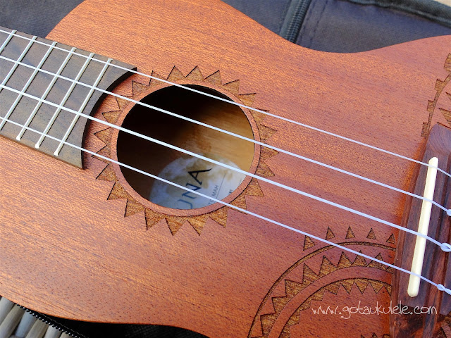 Luna Tattoo Concert Ukulele sound hole