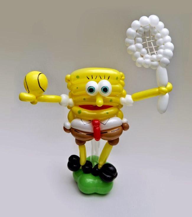 Arte y creatividad con globos bob esponja