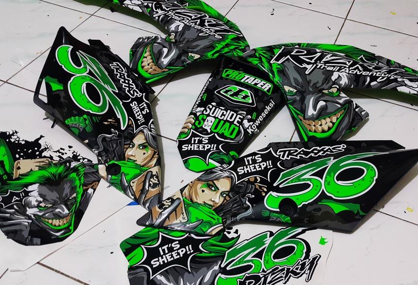 KLX bf 150 joker (dark green) cutting sticker