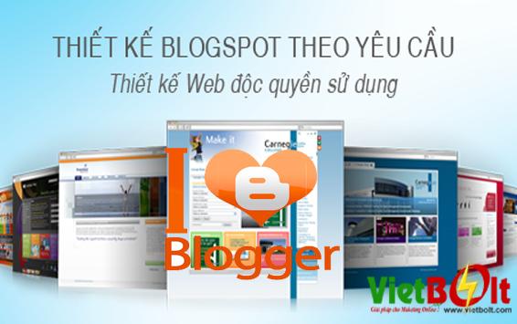 Dịch vụ thiết kế website nền tảng Blogspot(Blogger) chuẩn SEO