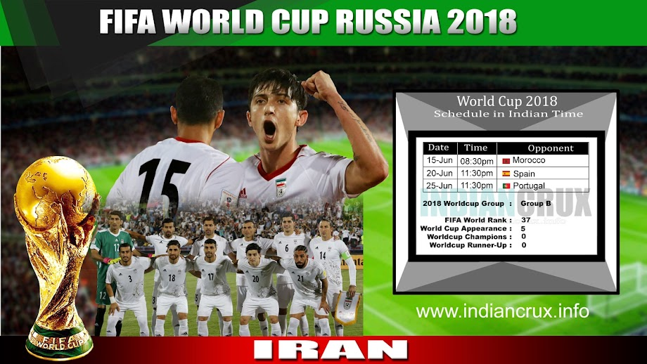 Downloadable Schedule of Team Iran at FIFA 2018 World Cup