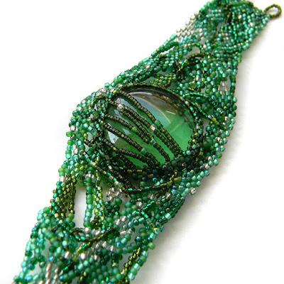 beaded bracelet freeform beadwork beadweaving bracelet jewelry