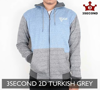 Sweater 3 Second 2D turkis Grey