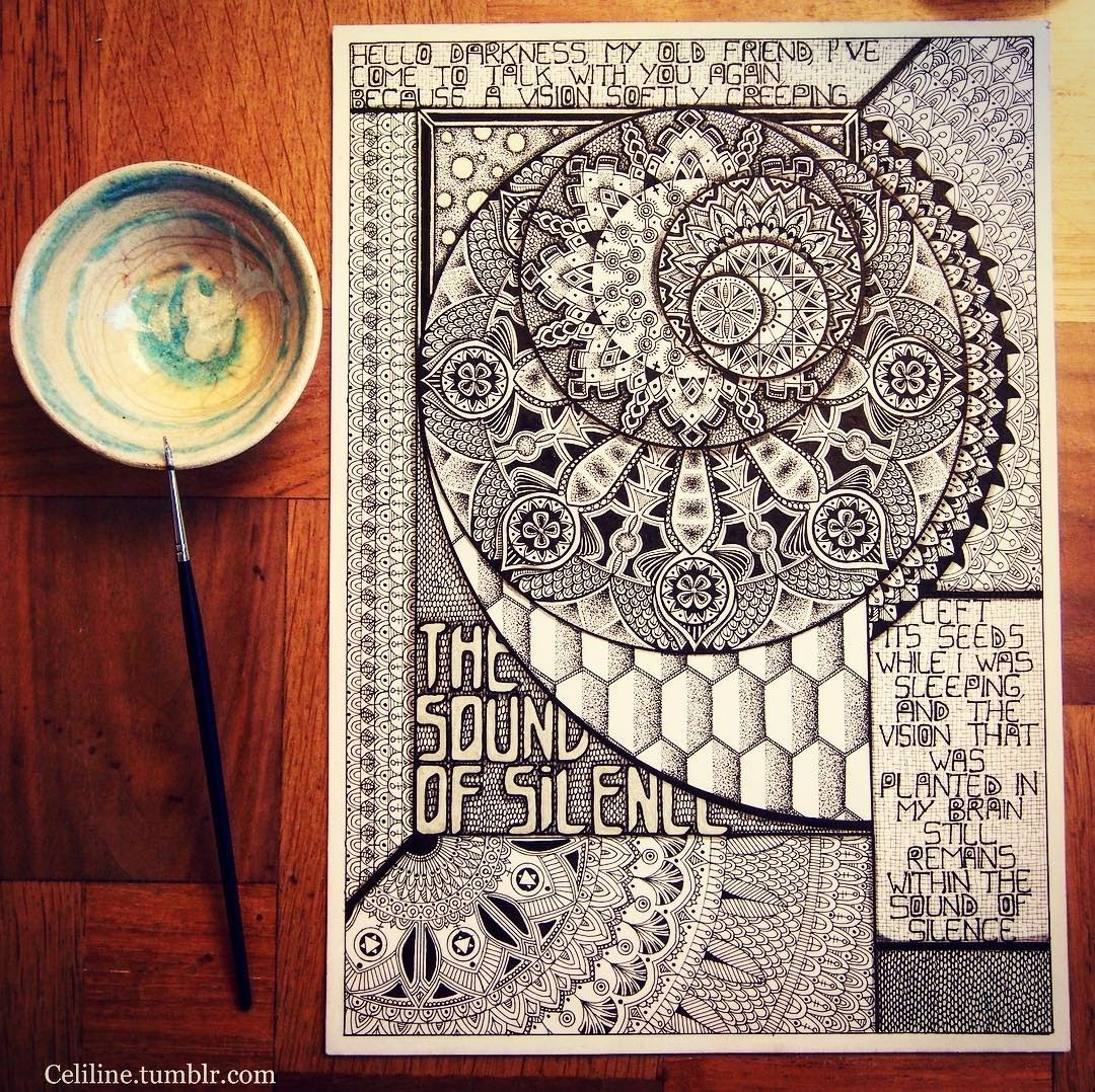 01-Celine-Silence-Lines-Art-Mandalas-Zentangles-and-Stippling-Drawings-www-designstack-co