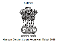 Hassan District Court Peon Hall Ticket