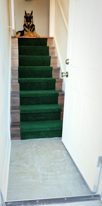 concrete floor stair runner vinyl peel stick wood