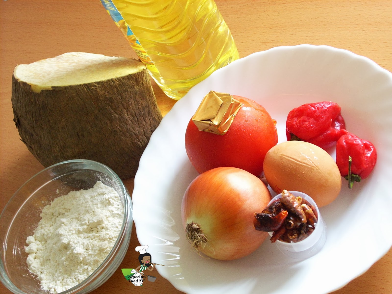 ingredients for Yamarita   Dun Dun Oniyeri