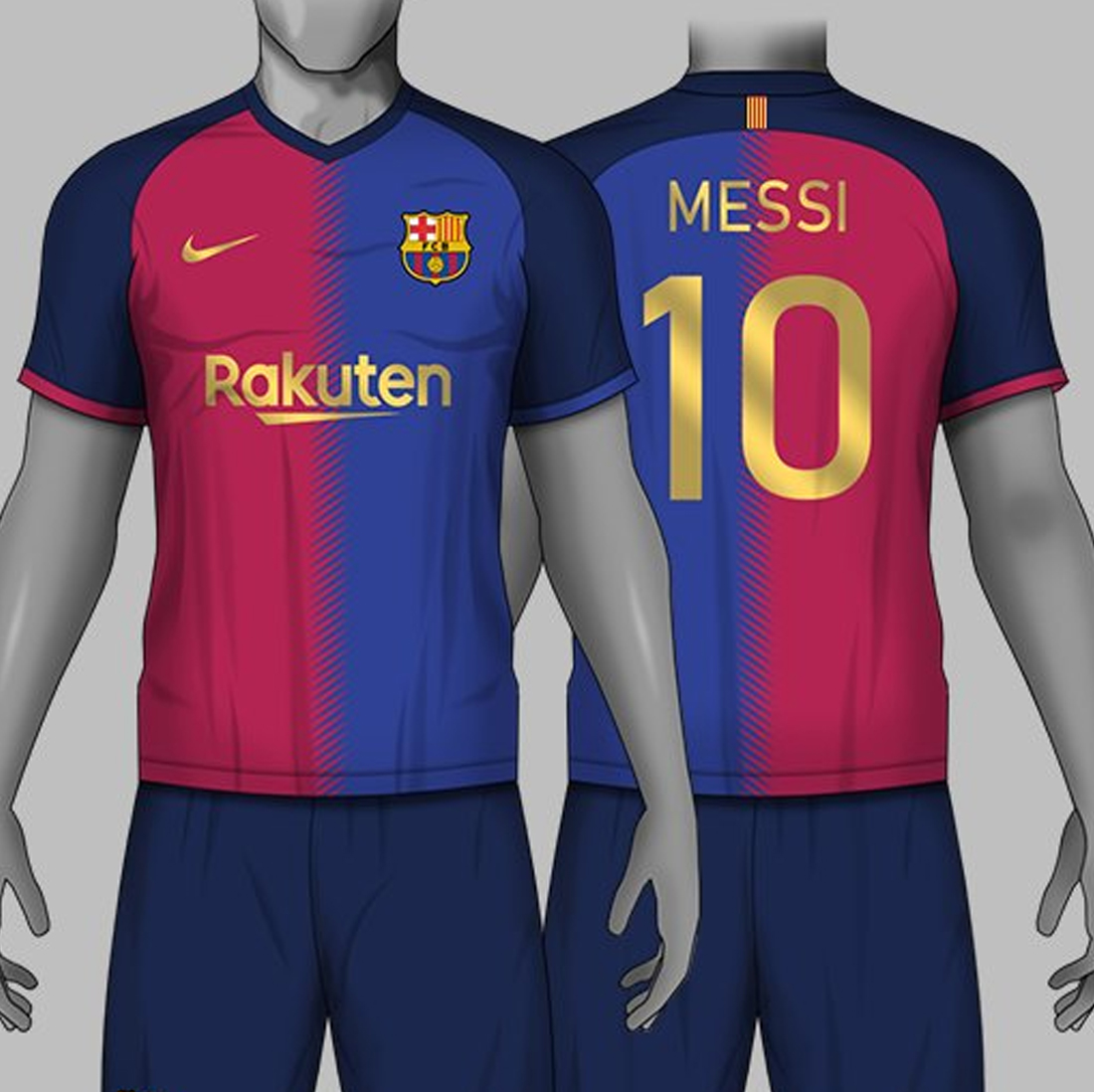 479ab1305 The first Nike FC Barcelona home kit concept is inspired by Barcelona s 1997  -98 Kappa