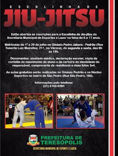 Inscrições para escolinha de Jiu-jítsu em Teresópolis
