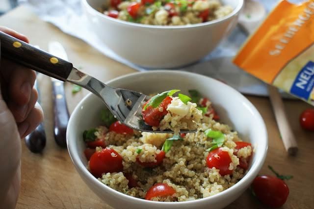 Caprese Quinoa Salat