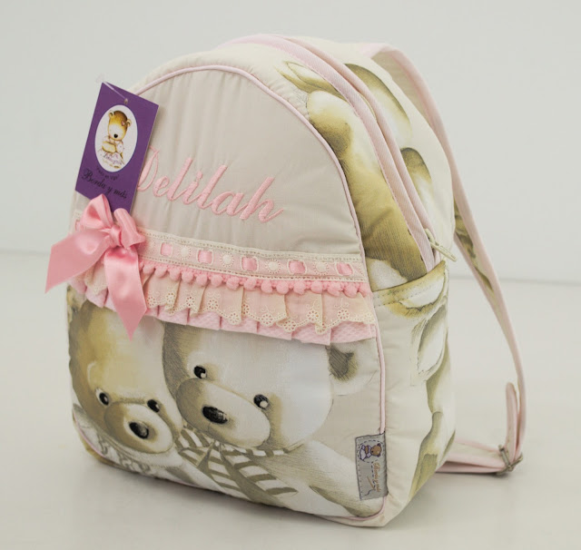 mochila cole osos rosa