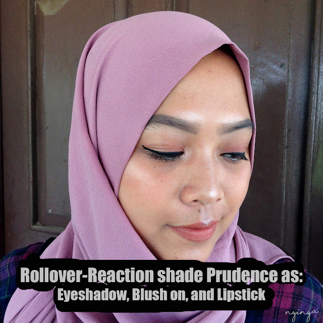 rollover reaction as lipstick blush on eyeshadow