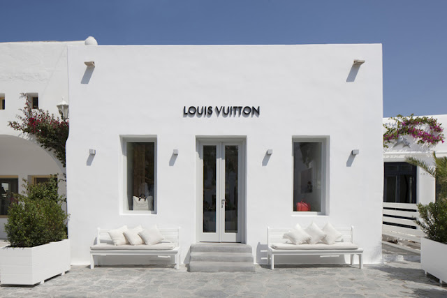 Green Pear Diaries, pop up stores, Louis Vuitton pop up store, Miconos, Mykonos