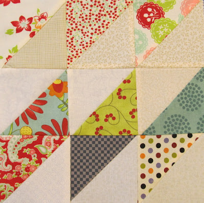 Quilt pattern Block of the Month Slanted Diamonds Tutorial