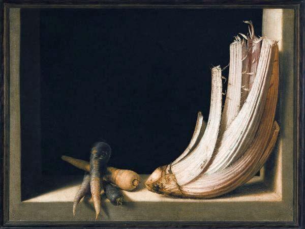 Juan Sánchez Cotán, Natura morta con cardo e carote Granada, Museo de Bellas Artes