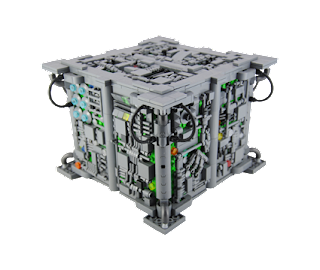 Resultado final del diseño del Cubo de Exploración de los Borg.