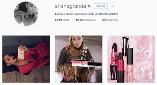 akun instagram Arianagrande