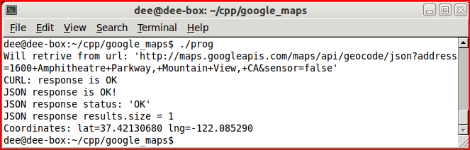 RANDOM THOUGHTS: GeoCoding with C++ and Google Geocoding API V3