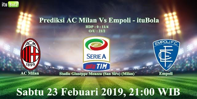 Prediksi AC Milan Vs Empoli - ituBola