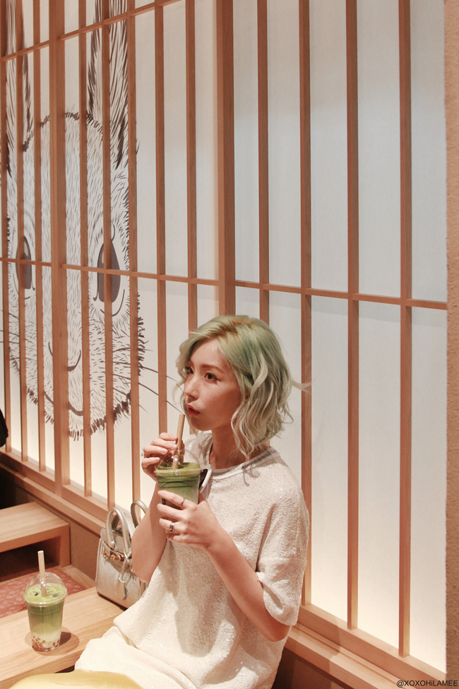 Japanese Fashion Blogger,MizuhoK, 2019,04-06 photo diary Matcha boba Teaven
