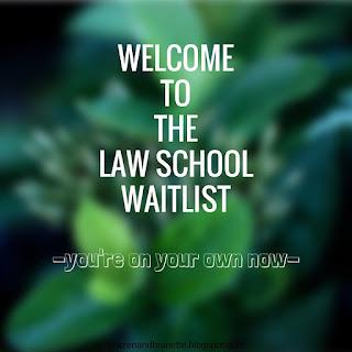 off the law school waitlist | brazenandbrunette.blogspot.com