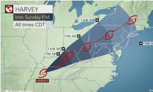 Interesting things hurricane harvey and the ohio river valley harvey will roll across the ohio valley before racing across the mid atlantic states with rain during part of the labor day weekend gumiabroncs Choice Image