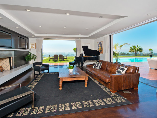 Photo of second living room interiors in the Bel Air modern residence