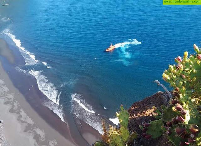 Fallece un delfín varado en la playa de Nogales
