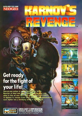 Karnov's Revenge+arcade+game+portable+art+flyer