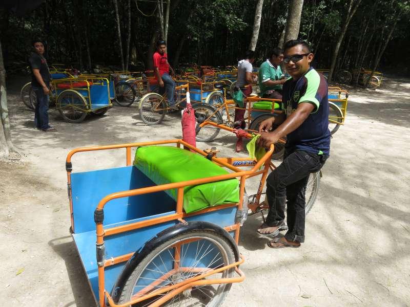 Bicycle taxi Coba
